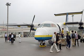 石垣ー与那国間で就航しているRACの39人乗り小型機(資料写真)