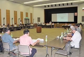 県消防通信指令施設運営協議会の市町村長報告会=15日午後、県庁
