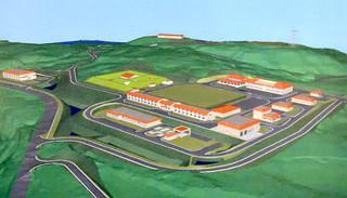 久部良に整備が計画されている駐屯地・監視所地区の完成予想図