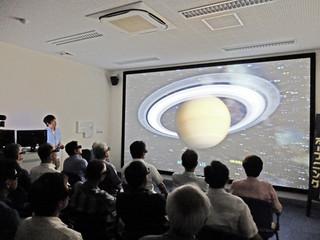 7月から供用開始となった4次元デジタル宇宙(4D2U)の上映会=資料・7月4日
