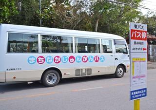通常のバス路線がない市街地を走るまちなかじゅんかんバス=23日午前、桃林寺前