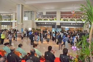 3月7日に開港した南ぬ島石垣空港。その後、観光客数が大幅に伸びた
