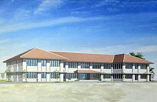 久部良地区に建設が予定されている陸上自衛隊沿岸監視部隊の庁舎(イメージ図)
