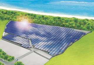 石垣島最大級のメガソーラー発電所イメージ(日建ハウジング提供)