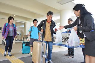 海外からの入域も好調な八重山観光=4月2日午後、南ぬ島石垣空港国際線ターミナル