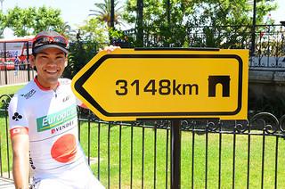 グランツール「ツール・ド・フランス」への5度目の出場が正式に決まった新城幸也=(Miwa IIJIMA提供)