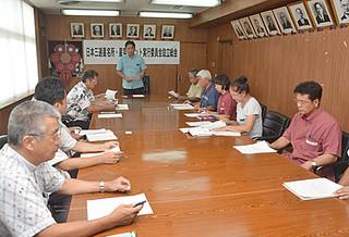 市役所庁議室で開かれた第2回日本三選星名所・星空サミット実行委員会の設立総会=9日午後