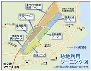 来年3月までに利用計画が策定されることになった石垣空港跡地=7日午後