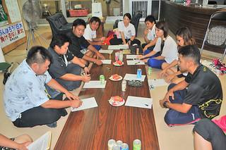 第28回青年文化発表会に向けて取り組みを確認した実行委員会 26日夜、平得公民館