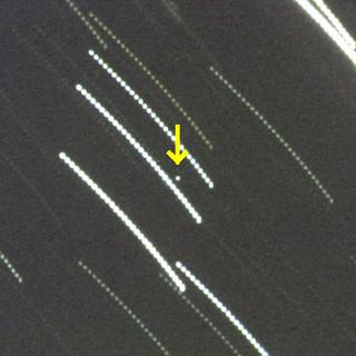 石垣島天文台が撮影に成功した小惑星「2014RC」=同天文台提供