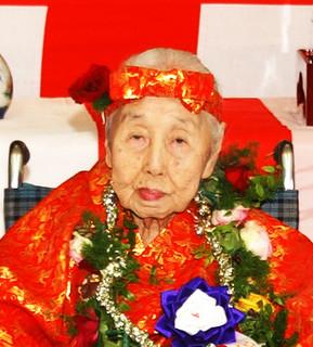 県内最高齢の依光年惠さん