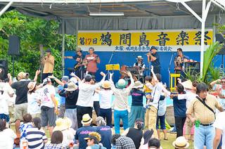 ことし5月3日に開かれた鳩間島音楽祭。ステージの改修が行われる見通しとなった