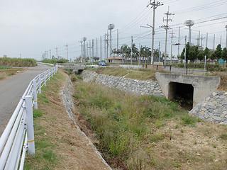 2016年度で改修工事が完了する見通しとなっている新川川。来年3月までに1号橋(写真奥)の架け替えを行う=3日午前