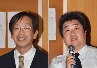 左から明田川保氏と牛山素行氏