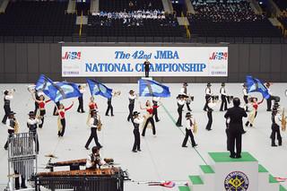 第42回マーチングバンド全国大会で金賞を獲得した石垣第二中学校吹奏楽・マーチングバンド部