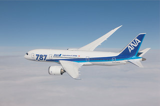 4月24日から羽田—石垣路線で就航するボーイング787—8型の同型機(ANA提供)