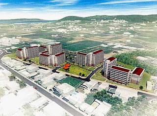 建て替え後の県営新川団地と新川市営住宅の全体イメージ