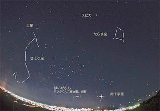 市街地を見下ろす前勢岳から南十字星を見ることもできる=提供・石垣島天文台