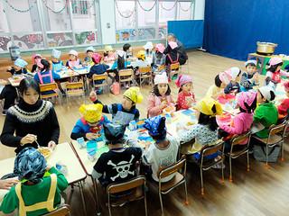 幼稚園でも来年4月から昼食の提供が始まる見通し=2月5日午後、みやまえ幼稚園