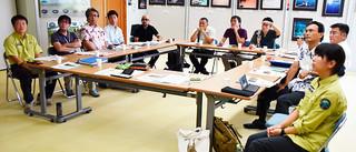 シロアゴガエルの駆除で薬剤防除を試験的に取り入れることを確認した八重山外来種対策連絡会議=27日午後、国際サンゴ礁研究・モニタリングセンター