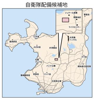 防衛省が示した陸上自衛隊配置先候補地