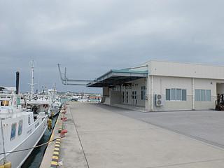 来年1月4月から八重山漁協が管理運営する石垣市水産加工施設。同年2月までに内部の機器類が完備される=30日午前、新川の石垣漁港