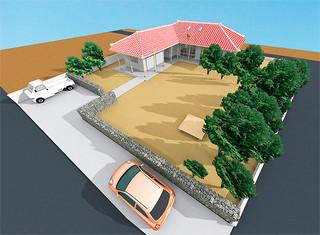 ふるさと納税を受け、町が建設することになった集会施設「どぅらいどぅくる」のイメージ(町総務財政課提供)