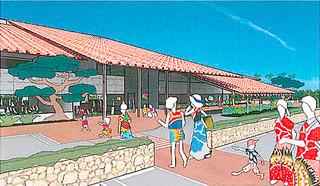 新庁舎設計プロポーザルで隈研吾建築都市設計事務所が提案したエントランス