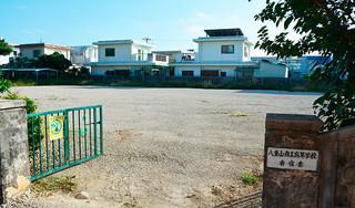 入札不調で着工できず、更地のままの八商工寄宿舎建設予定地=16日午後