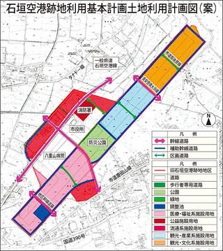 石垣空港跡地利用基本計画土地利用計画図(案)