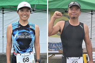 地元男子1位の小山豊さん(43)と、地元女子1位の江村彩さん(42)