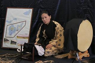 戦争マラリアについて語る国吉昭子さん=23日午後、八重山平和祈念館