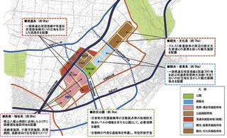 石垣市策定の旧石垣空港跡地利用計画ゾーニング案