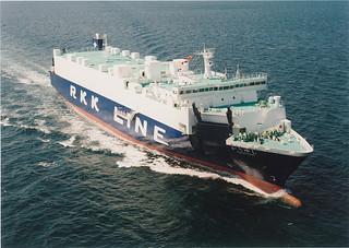 10月17日から新たに就航する家畜輸送船「かりゆし」=(JAおきなわ提供)