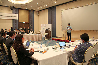 5日の「世界津波の日」の啓発活動の一環として、世界津波博物館会議が開催された=5日、石垣市のアートホテル石垣島