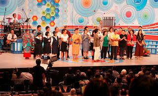 石垣市制施行70周年を記念し「NHKのど自慢」の公開生放送が実施された=3日午後、石垣市民会館大ホール