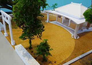 ことし12月までの完成に向けて、新築事業が進む真乙姥獄の新拝殿図(建築アトリエ・トレッペン提供)