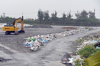 延命化方針が決まった市一般廃棄物最終処分場=1月31日午前、同処分場