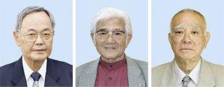 左より前泊英光氏、茅原南龍氏、松川秀盛氏