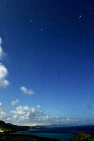 国内初の星空保護区に認定されたダークスカイ・パーク。認知度不足の課題が浮き彫りになっている=3月29日夜、平久保灯台