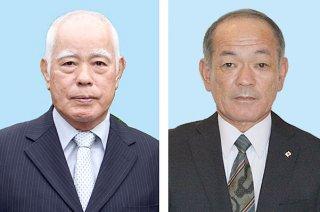 第31回危険業務従事者叙勲を受章した前田小五郎氏(右)と浦底透氏