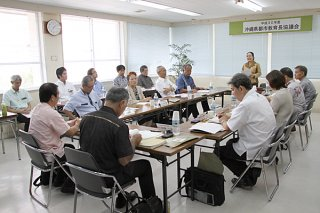 会計年度任用職員制度への対応などについて協議した県都市教育長協議会の第2回会議=26日午後、市教委