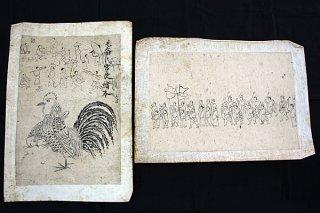 石垣市教育委員会に寄贈された「蔵元絵師の画稿」2点