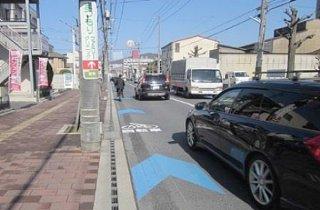 竹富町が構想する車道の両側に自伝車道を設ける「車道混在」の道路(国土交通省ホームページより)