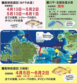 八重山漁協が産卵海域の5カ所を保護区に設定