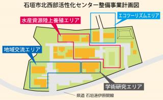 石垣市北西部活性化センター整備事業計画図