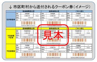 市区町村から送付されるクーポン券(イメージ)
