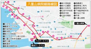 八重山病院線路線図(東運輸㈱提供)