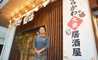 「子ども食堂」の取り組みを始めた「ちねんや~石垣島新川店」の知念店長=2日午後、同店