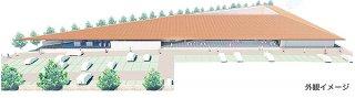 完成予想イメージ図-1 与那国町役場新庁舎完成イメージ(与那国町提供)